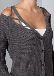 Alternate View Cut Out Detail Cardigan