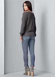 Back View Cut Out Detail Cardigan