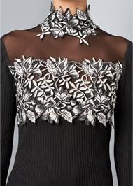 Alternate View Floral Applique Sweater