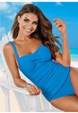 Front view Ruched Bra One-Piece