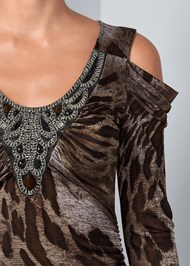 Alternate View Embellished Print Top