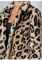 Alternate View Faux Fur Leopard Print Coat