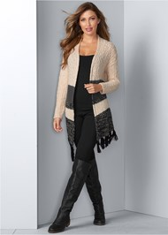 Front View Tassel Detail Duster