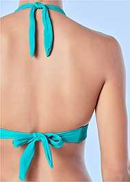Back View Embellished Halter Top