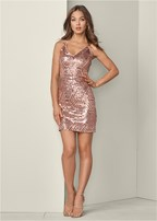 plunging v-neck party dress
