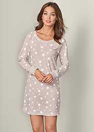 Front View Star Sleep Dress