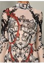 Alternate View Sheer Mesh Print Dress