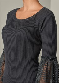 ALTERNATE VIEW Lace Bell Sleeve Sweater