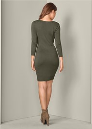 Alternate View V-Neck Sweater Dress