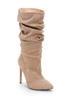 high heel slouch boot
