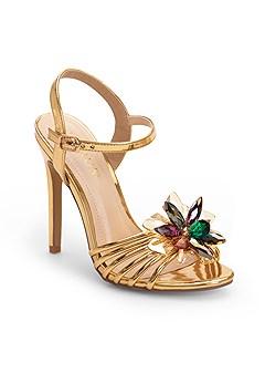 embellished flower heels