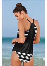 Back View Layered Blouson Tankini Top