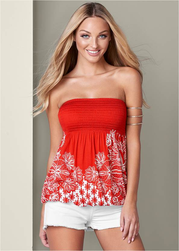 Front View Strapless Top