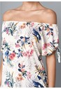 Alternate View Tie Detail Floral Top