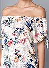 Alternate View Tie Detail Floral Top