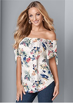 f81a9f525169ed tie detail floral top