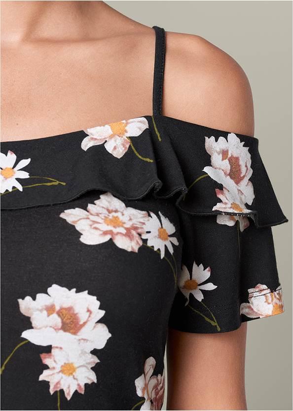 Alternate View  Cold Shoulder Floral Top
