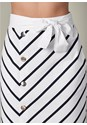 Alternate View Belted Stripe Skirt