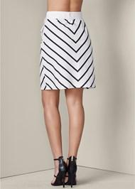 Alternate View Belted Stripe Skirt