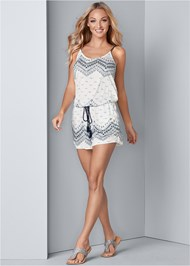 Alternate View Print Casual Romper