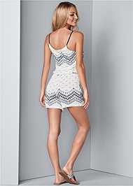Back View Print Casual Romper