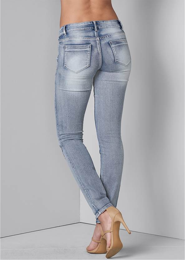 Alternate View Embroidered Skinny Jeans