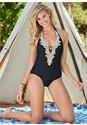 Front view Beaded Crochet One-Piece