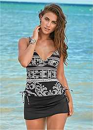 Front View Flattering Tankini