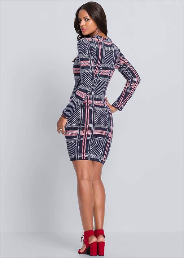 Alternate View Plaid Sweater Dress