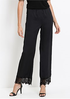 lace trim pants