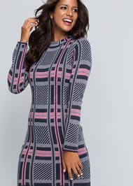 Alternate View Plaid Sweater Dress
