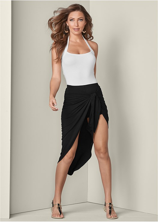 WRAP SKIRT,EASY HALTER TOP