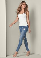 sequin detail jeans