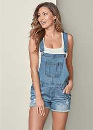 Front View Denim Overalls