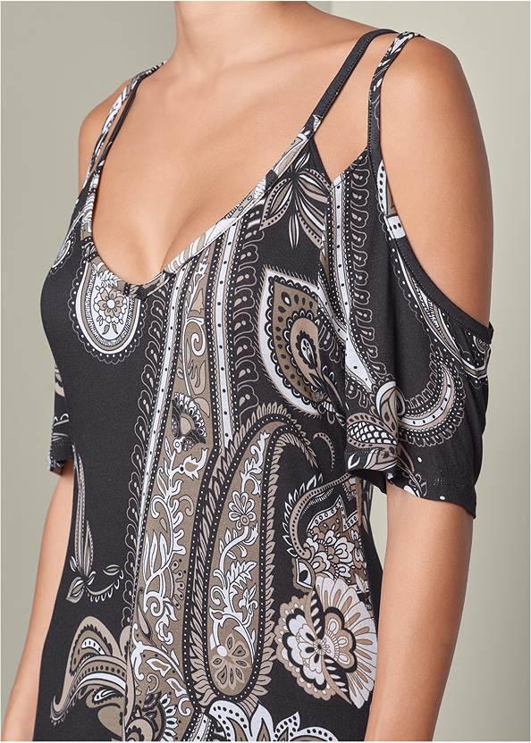 Alternate View Cold Shoulder Casual Dress