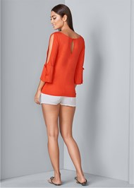 Back View Slit Sleeve Top
