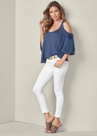 Alternate View Cold Shoulder Top