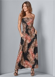 Alternate View Strapless Maxi Dress