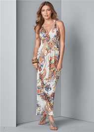 Alternate View Paisley Print Maxi Dress