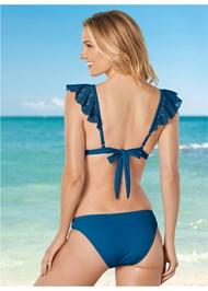 Back View Crochet Ruffle Bikini Top