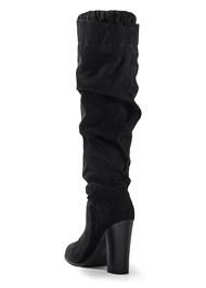Back View Block Heel Boots