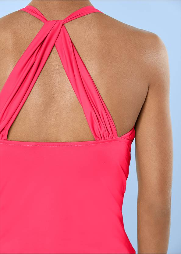 Detail back view Smoothing V-Back Tankini Top