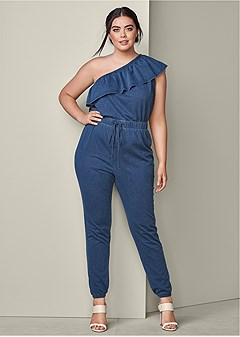 plus size french terry jumpsuit