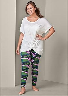 plus size plush sleep leggings