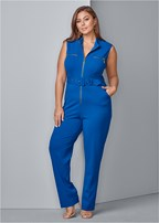 plus size trim detail jumpsuit