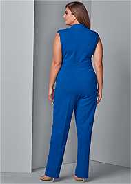 Back View Belted Jumpsuit