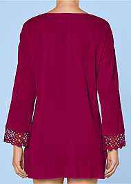 Alternate View Open Crochet Trimmed Tunic