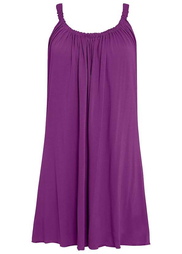 Alternate View Gathered Neckline Cover-Up Dress