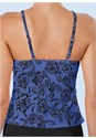 Alternate View Hanky Hem High Neck Tankini