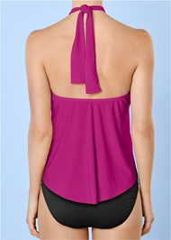 Alternate View High Neck Flounce One-Piece
